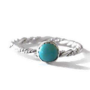 925 turquoise weave ring